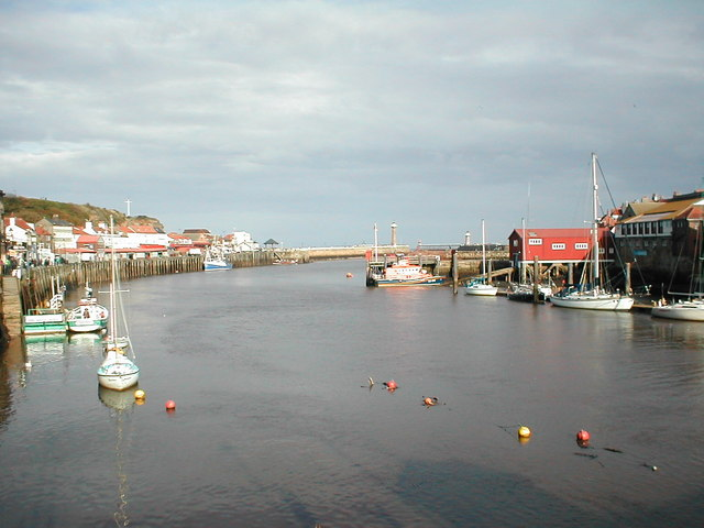 Whitby Harbour from the harbour bridge