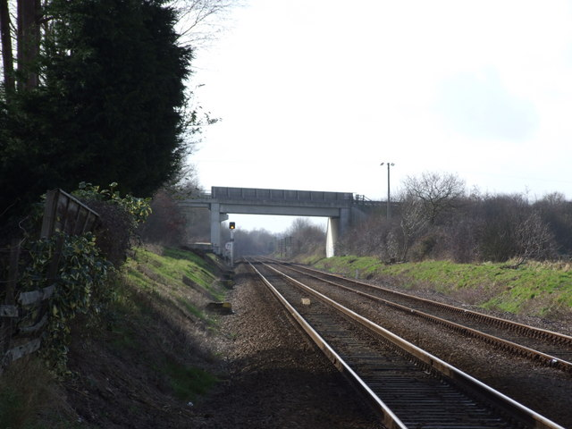 A11 crossing the railway, Suton