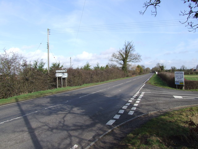 Junction of B1172 and Eleven Mile Lane, Suton