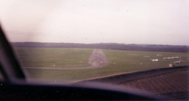Final approach to Wycombe Air Park