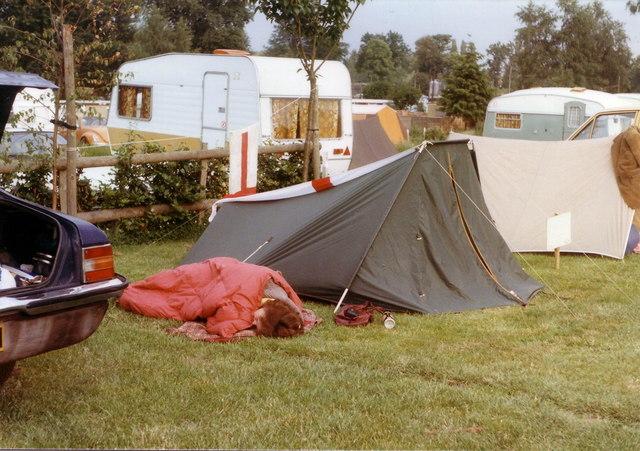 Swiss Farm campsite, Henley, 1985.