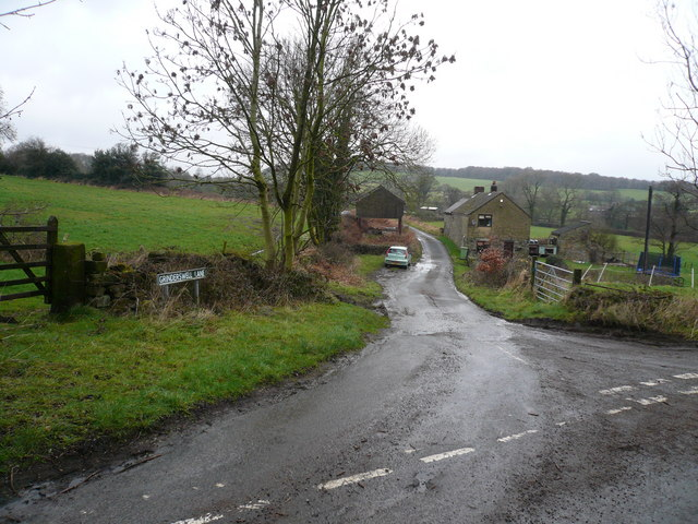 Grinderswell Lane - Junction with Northedge Lane