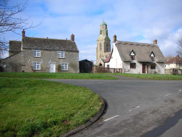 Bythorn Cottages and Church