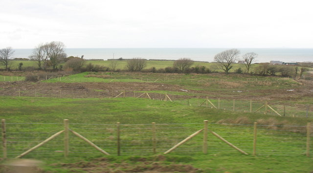 Site of the proposed roundabout  on the new stretch of the A499 east of  Clynnog Fawr