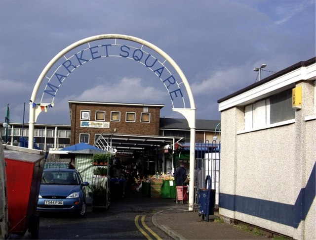 Entrance to Kirkby Market