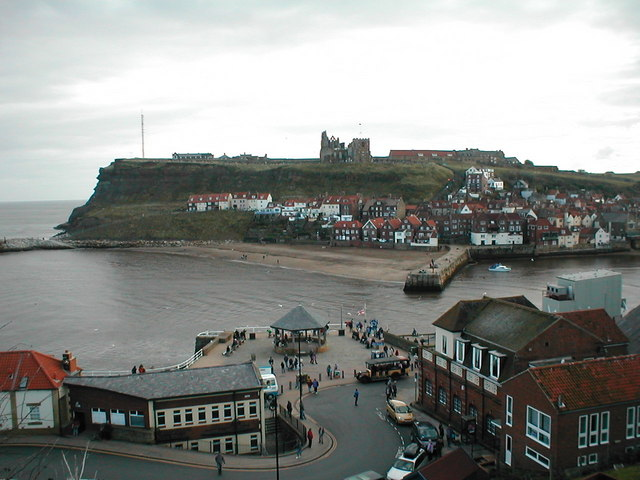 Whitby Harbour and Beach from West Cliff