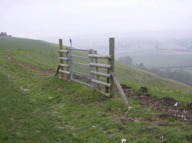 The gate off Ham Hill