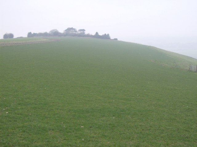 The downs approaching Ham Hill