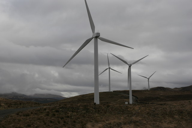 Part of the wind farm at Cruach Mhor, above Glendaruel