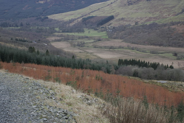 Looking into Glendaruel from the Cruach Mhor access road
