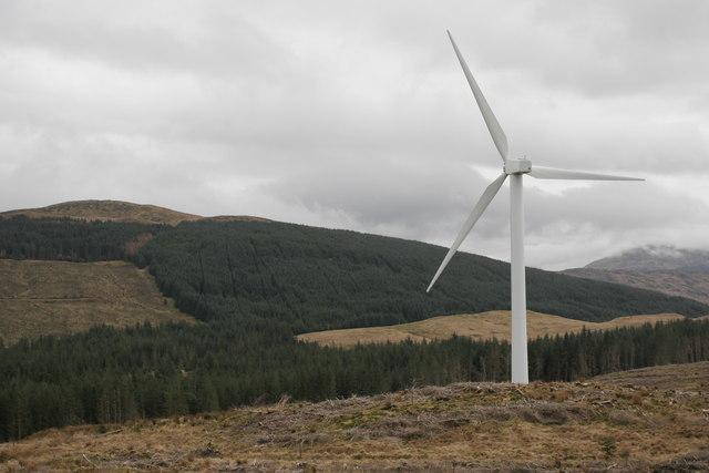 Eastern edge of Cruach Mhor wind farm
