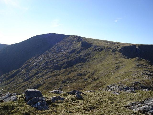 Ridge and corrie between Meall a' Bhealaich and Beinn Fhada