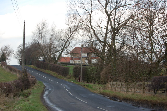Road heading north from Ovington
