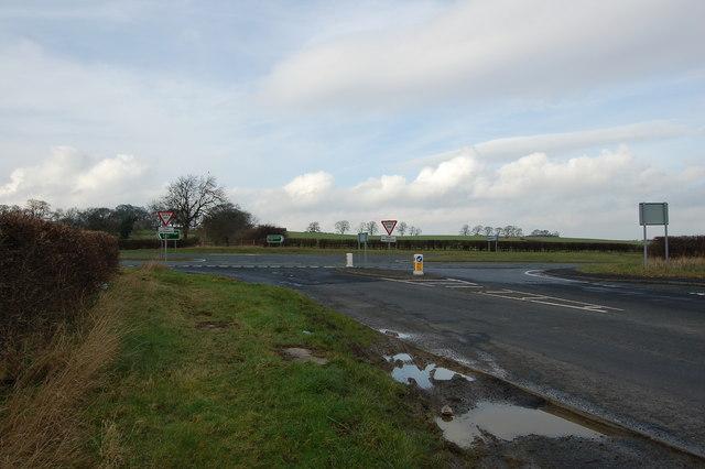 Junction with A69 near Ovington