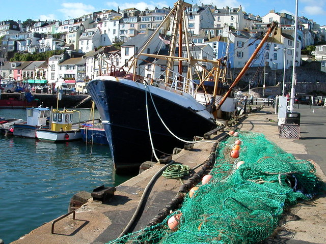 Fishing boat and net, Brixham Harbour
