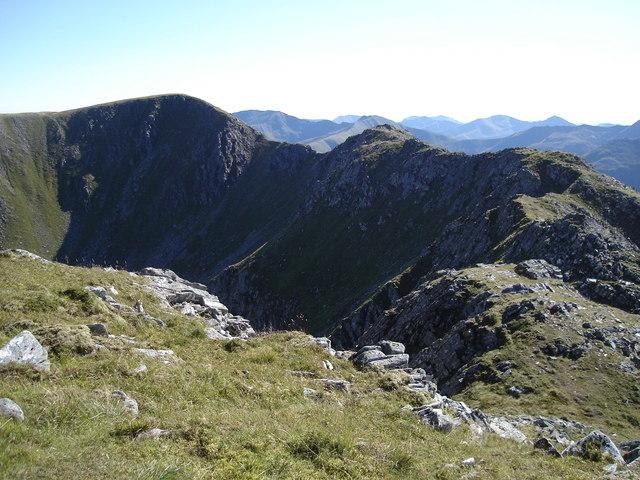 Looking south-west towards Meall An Fhuarain Mhoir