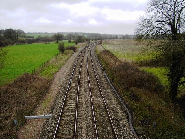 Railway to Reading and points east, Wootton Rivers, Wiltshire