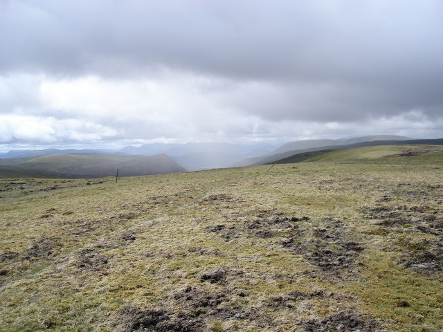 The view down Glen Markie from Beinn Odhar