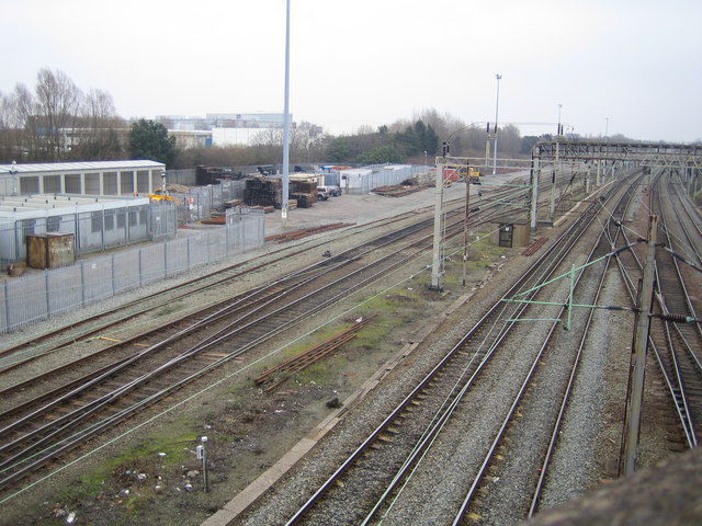 Liverpool: Railway line east of Edge Hill station