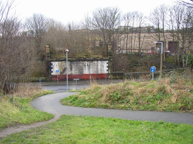 The western end of the Fartown cycleway, Fartown, Huddersfield