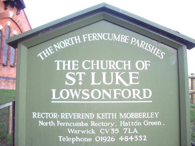 Sign for St Luke's Church