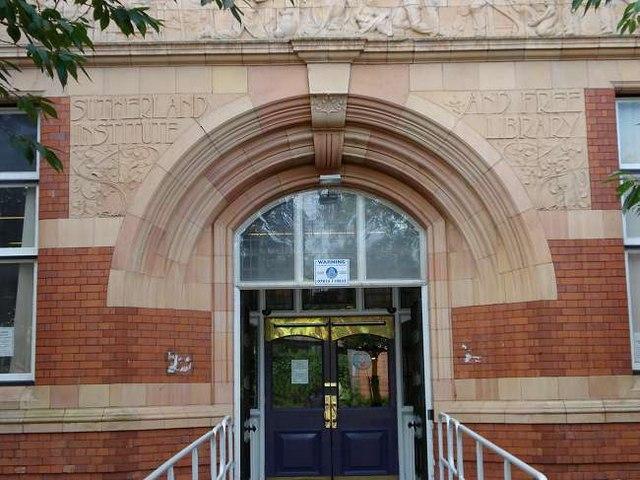 Entrance to Sutherland Institute, Longton