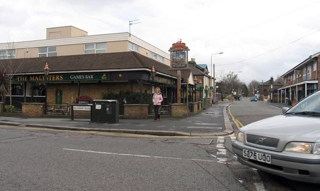 The Maltsters, Public House, corner of Delamare Road and Windmill Lane, Cheshunt