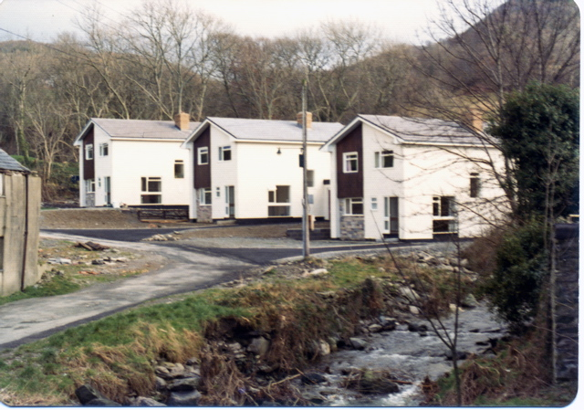 Recently built houses, Mill Street, Tre'r ddôl, 1973