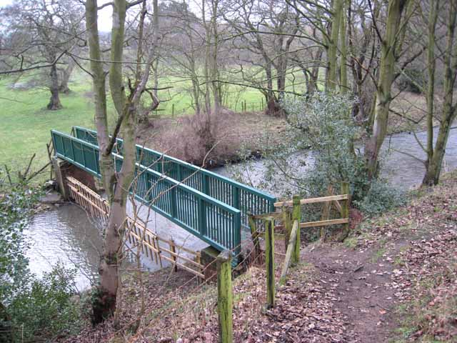 Footbridge over the River Deerness
