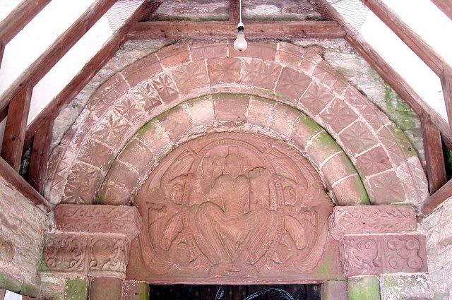St Peter, Rowlestone, Heref - Tympanum