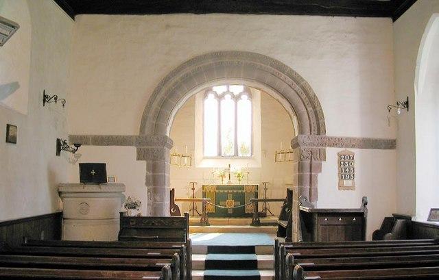 St Peter, Rowlestone, Heref - East end