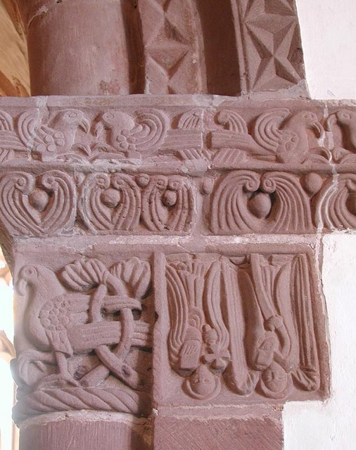 St Peter, Rowlestone, Heref - Chancel arch