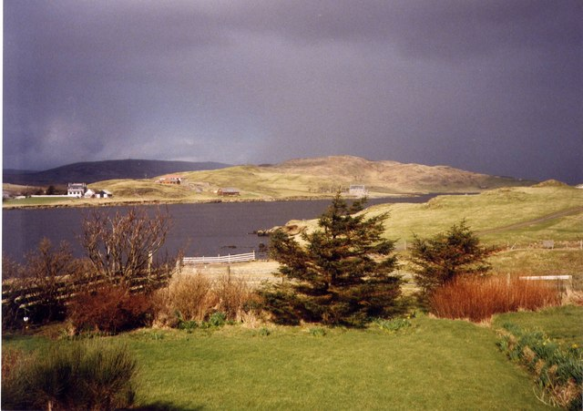 View over the Loch of Strom, Whiteness, Shetland