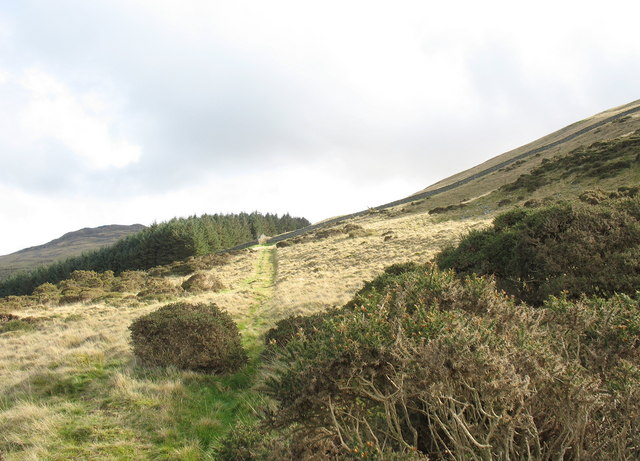 The track above Cwm-gwared