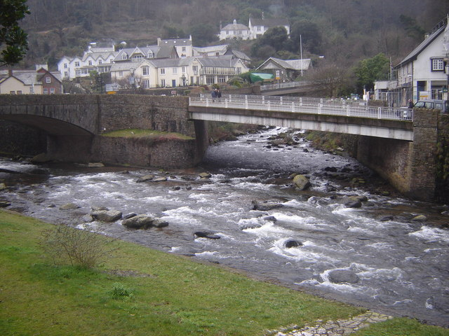 Confluence of East and West Lyn Rivers, Lynmouth