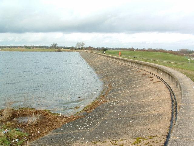 Alton Water Reservoir Dam