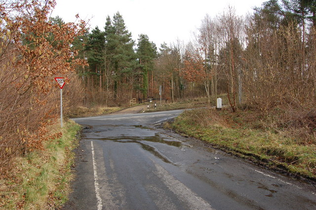 Road junction on B6310 across from Make Me Rich Plantation