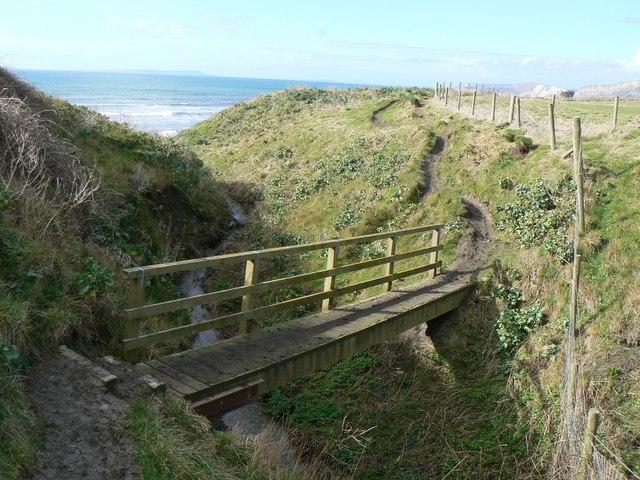 Footbridge on Dorset Coast Path