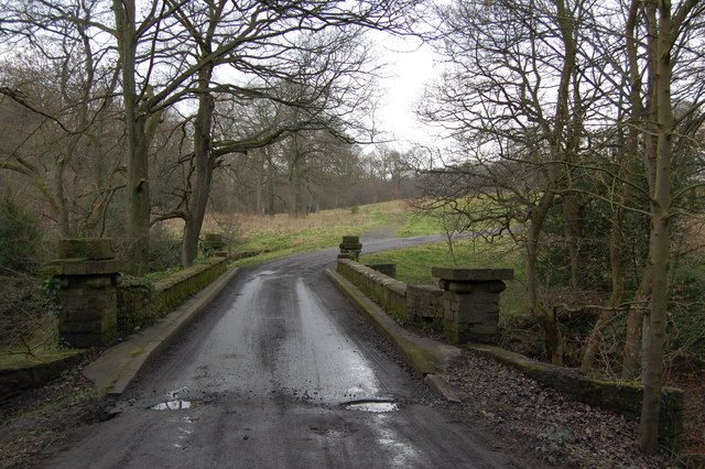 Bridge over the Pont burn Hamsterley hall