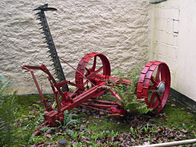 Old Mechanical Reaper (C) Tony Atkin :: Geograph Britain and Ireland