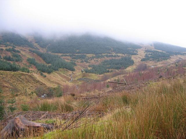 Gleann Crotha on a misty day