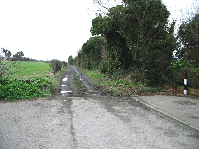 The point where St Vincent Road turns into a muddy track
