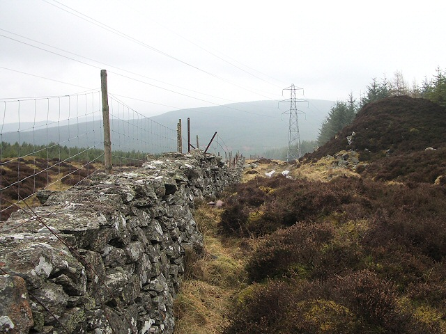 Track, wall and power line