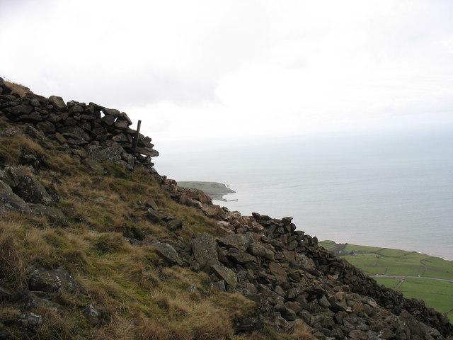 Just below the summit of Gyrn Goch