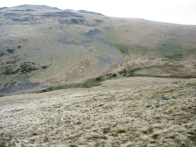 Approaching the incised valley of the upper Afon Hen