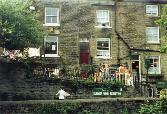 """One of Holmfirth's locations for """"Last of the Summer Wine"""""""