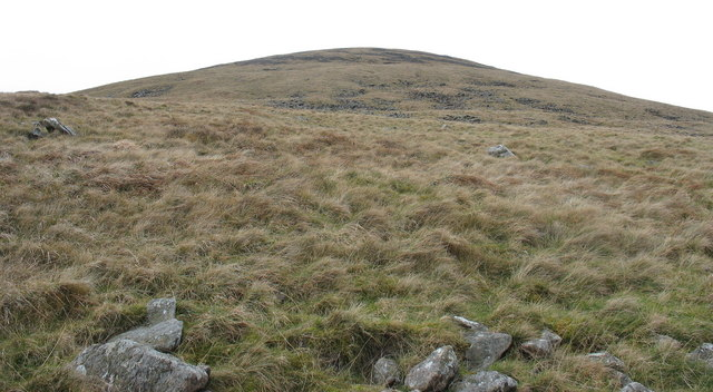 Looking back up the slope of Gyrn Goch