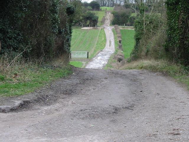 View along farm track