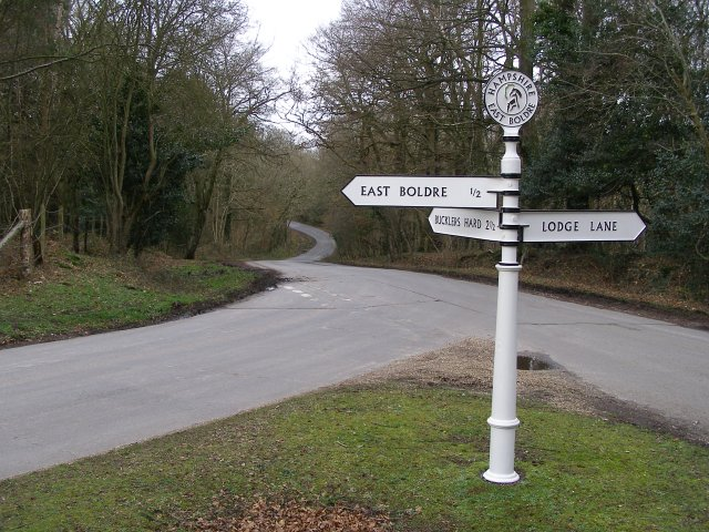 Junction of Cripple Gate Lane and Lodge Lane, near East Boldre