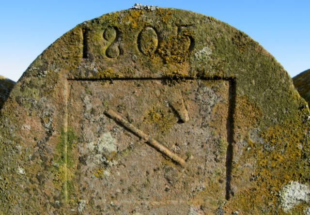 Forester's gravestone, St Mary of the Storms, Cowie